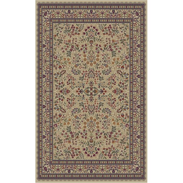 Jewel Sarouk Ivory Area Rug by Threadbind
