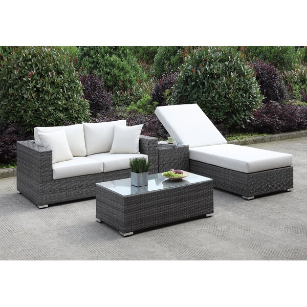 Peters 4 Piece Deep Seating Group with Cushions by Brayden Studio