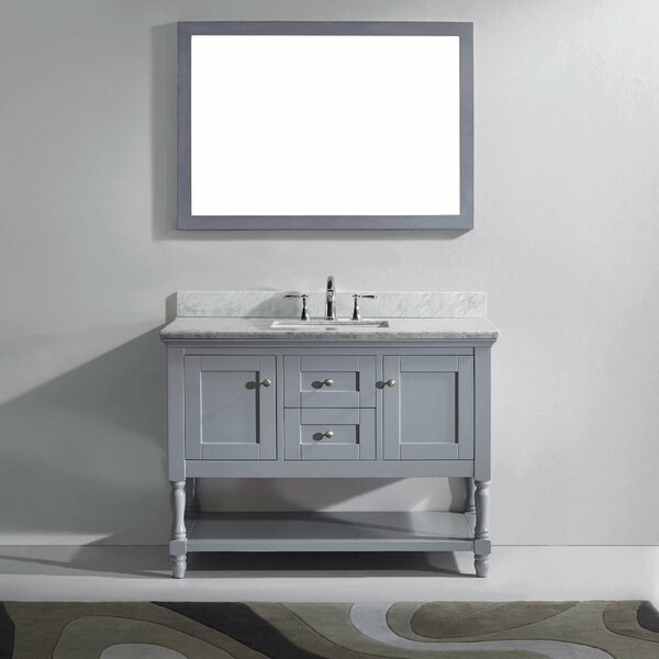 Cicely 49 Single Bathroom Vanity Set with Mirror by Gracie Oaks