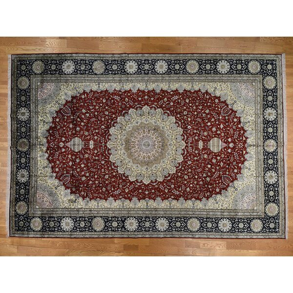 One-of-a-Kind Benally Hand-Knotted Red/Gray/Blue 12' x 18' Area Rug