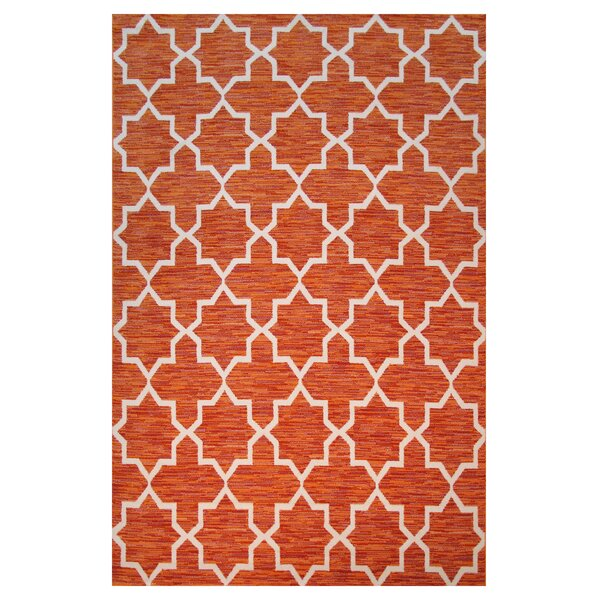 Botticelli Orange Area Rug by L.A. Rugs