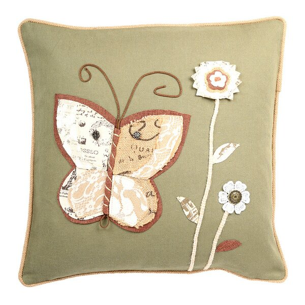 Ambler Garden Theme Embroidery Square Indoor Throw Pillow by August Grove