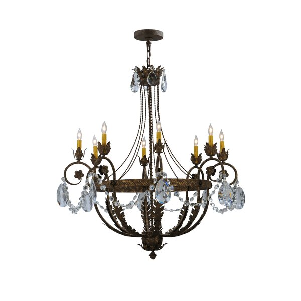 Nordman 8 - Light Candle Style Empire Chandelier by Astoria Grand Astoria Grand