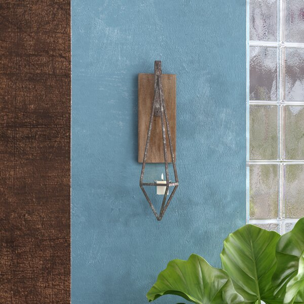 Wooden Wall Candle Wood Sconce by 17 Stories