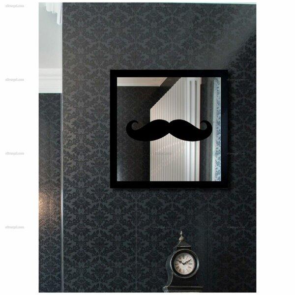 Black Wood Whatta Gentleman Wall Mirror by Brayden Studio