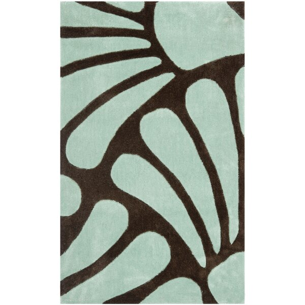 Modern Art Brown/Blue Rug by Safavieh