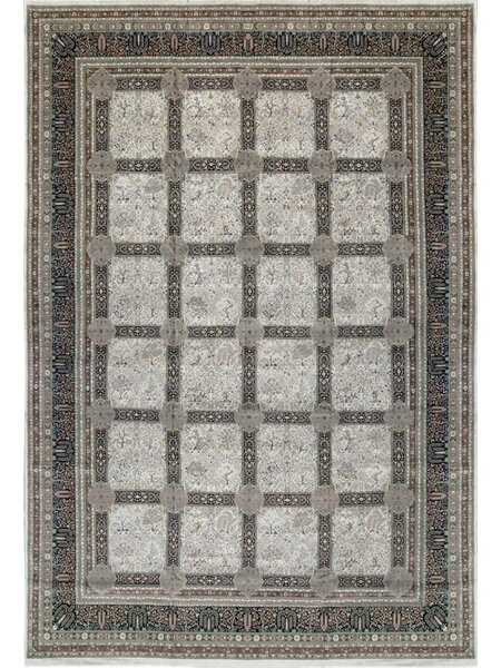 One-of-a-Kind Tabriz Hand-Knotted Wool Gray Indoor Area Rug by Bokara Rug Co., Inc.