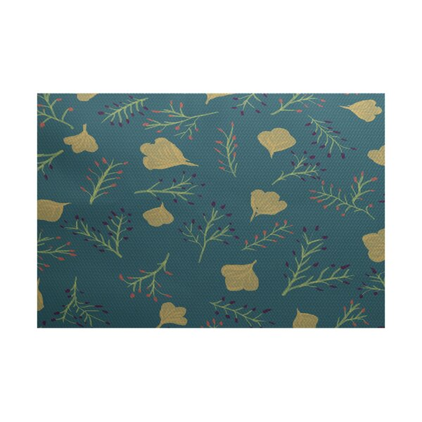 Orchard Lane Teal Indoor/Outdoor Area Rug by Alcott Hill