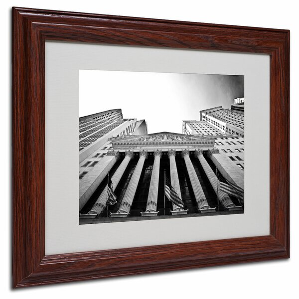 The New York Stock Exchange by Yale Gurney Framed Photographic Print by Trademark Fine Art