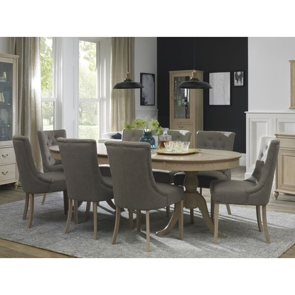 Cecile 9 Piece Extendable Solid Wood Dining Set by Canora Grey
