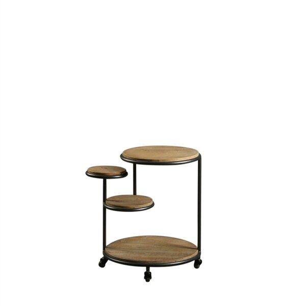 Lecroy Multi Level Metal And Wood 4 Tier End Table By 17 Stories New Design