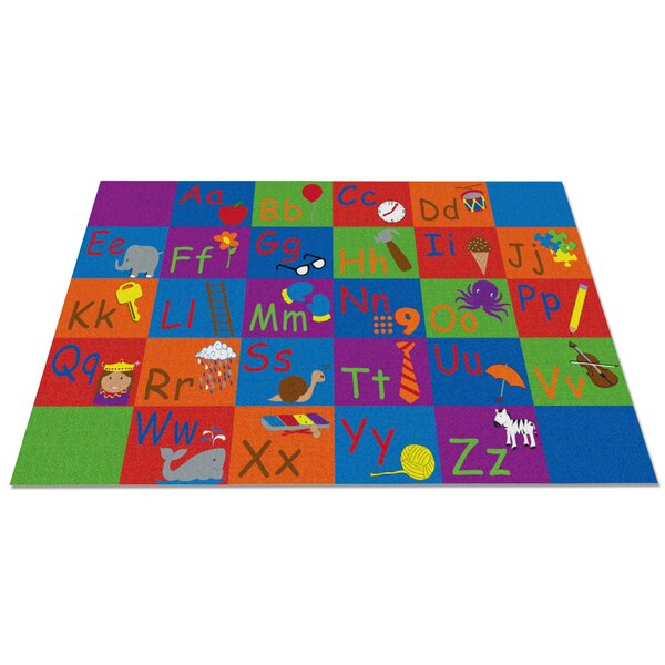 All in a Row Letter Kids Rug by Kid Carpet