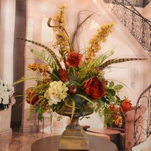 Artificial flower arrangements youll love wayfair large silk flower arrangement with feathers mightylinksfo