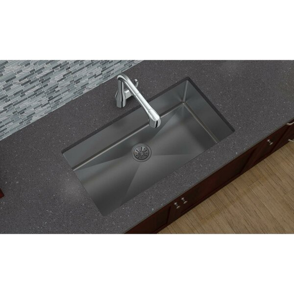 Crosstown 33 L x 18 W Undermount Kitchen Sink by Elkay