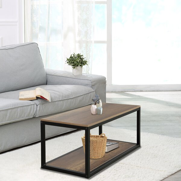 Mancini Design Rectangular With Metal Base Open Bottom Shelf Coffee Table By 17 Stories