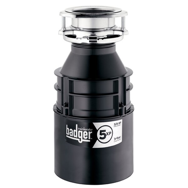 Badger 5XP 3/4 HP Continuous Feed Garbage Disposal