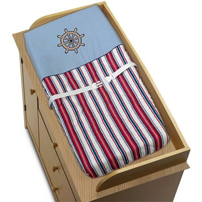 Nautical Nights Changing Pad Cover by Sweet Jojo Designs