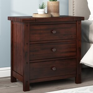 Winchester 3 Drawer Nightstand by World Menagerie
