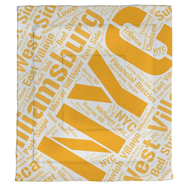 New York, New York Single Reversible Comforter