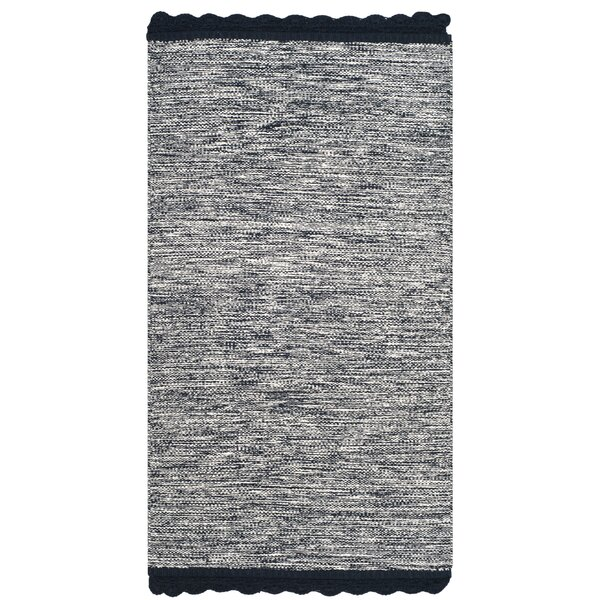Mohnton Hand-Woven Navy/Gray Area Rug by Gracie Oaks