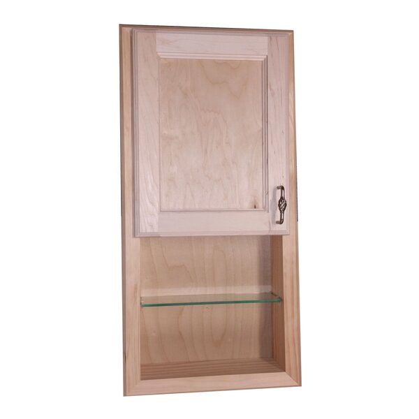 Christopher 14.13 W x 36.13 H Recessed Cabinet by WG Wood Products