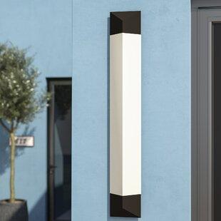 Reviews 1-Light LED Outdoor Flush mount By Latitude Run