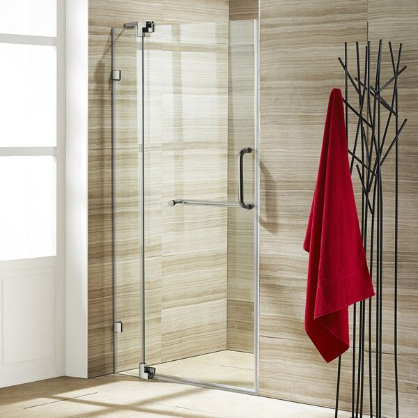 Pirouette 42 x 72 Pivot Frameless Shower Door by V