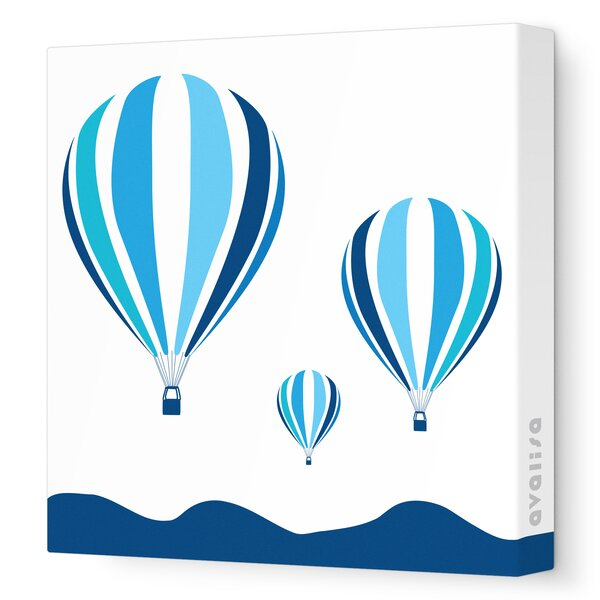 Things That Go Hot Air Balloons Stretched Canvas Art by Avalisa