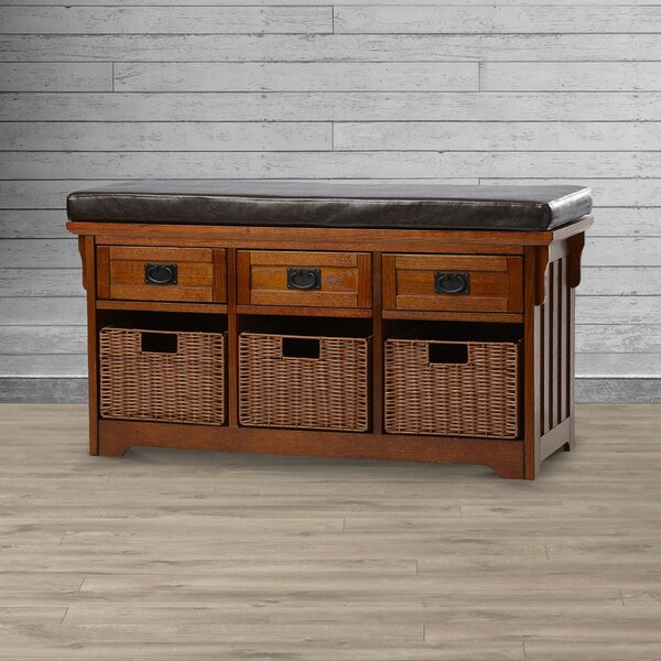 Hemlock Wooden Storage Bench by Loon Peak Loon Peak