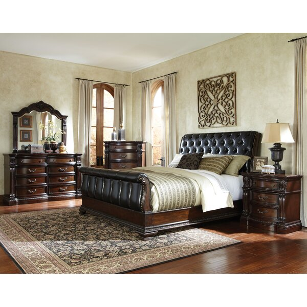 Churchill Upholstered Sleigh Bed by Standard Furniture