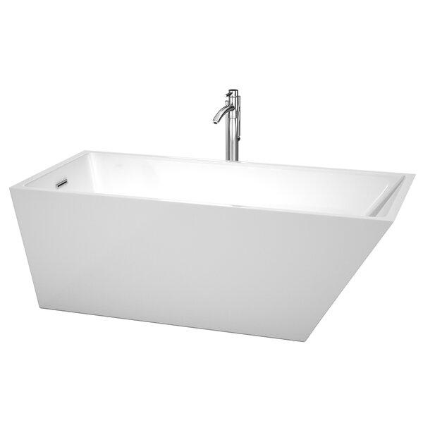 Hannah 67 x 31.5 Soaking Bathtub by Wyndham Collection