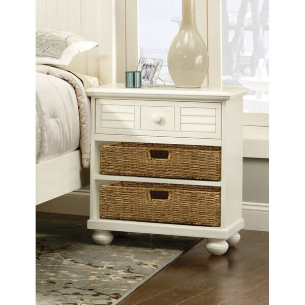 Wales Ice Cream at the Beach 1 Drawer Nightstand by Rosecliff Heights