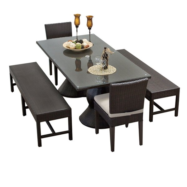 Napa 5 Piece Dining Set with Cushions by TK Classics
