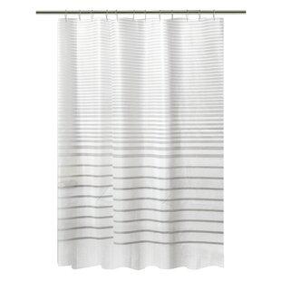 black and white shower curtain set. PEVA Stripe Design Shower Curtain Set White Curtains You ll Love  Wayfair