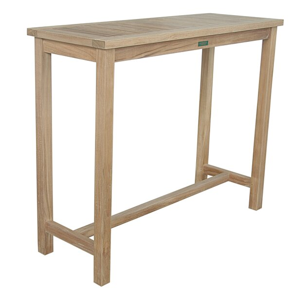 Bourassa Solid Wood Bar Table by Freeport Park