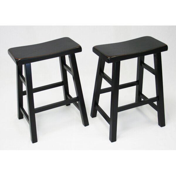 Lyndora 24 Bar Stool (Set of 2) by Laurel Foundry Modern Farmhouse