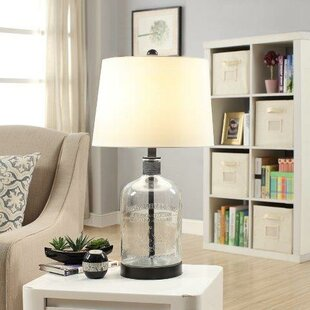 modern blue on art lamps glass clear table lamp