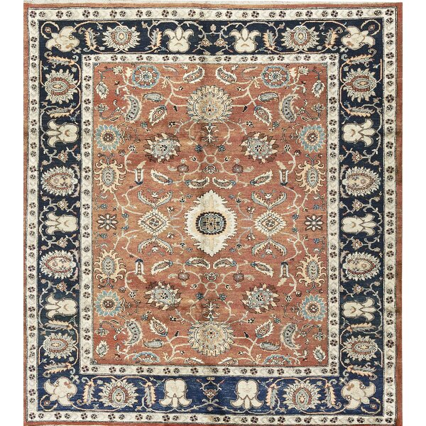 One-of-a-Kind Ziegler Handwoven Wool Orange/Blue Indoor Area Rug by Bokara Rug Co., Inc.