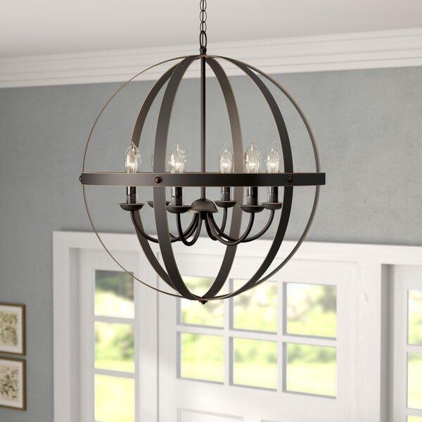 Genna 6 - Light Lantern Globe Chandelier By Gracie Oaks
