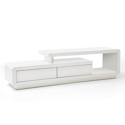 TV-Lowboard für TVs bis zu 50 Metro Lane Farbe: Weiß Hochglanz lackiert | Wohnzimmer > TV-HiFi-Möbel | Metro Lane