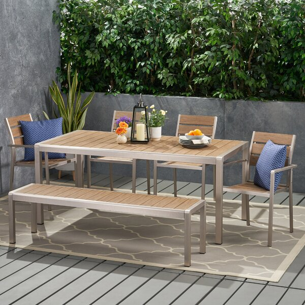 Mebane Coral 5 Piece Dining Set by Wrought Studio