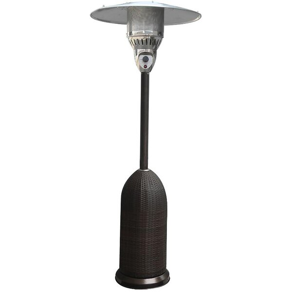Round Wicker 41,000 BTU Propane Patio Heater by Cambridge