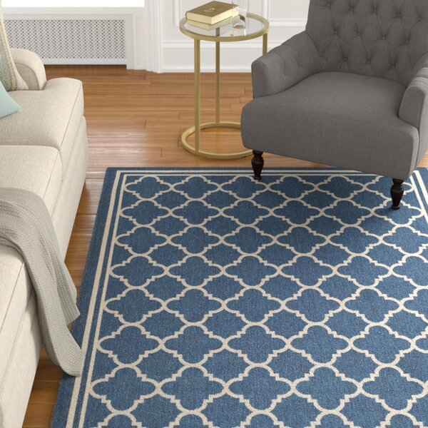 Critchlow Navy Outdoor Area Rug by Charlton Home