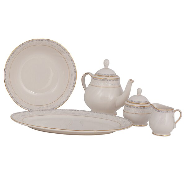 Spring Valley Ivory China Traditional Serving 5 Piece Dinnerware Set by Shinepukur Ceramics USA, Inc.
