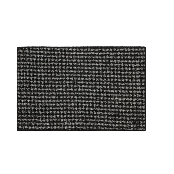 Amalthea Machine woven Black/Charcoal Area Rug by Charlton Home