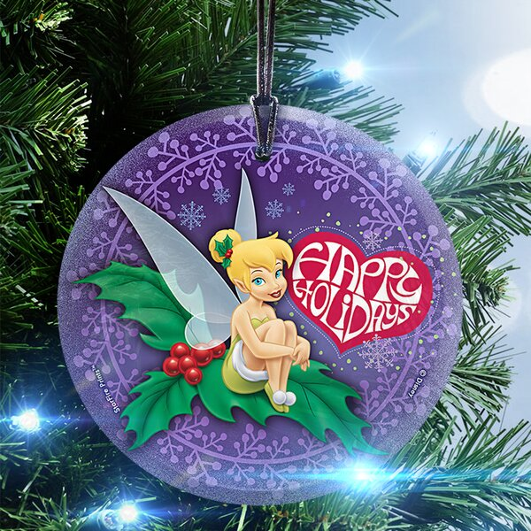 Disney Tinker Bell (Happy Holidays) Hanging Shaped Ornament by Trend Setters