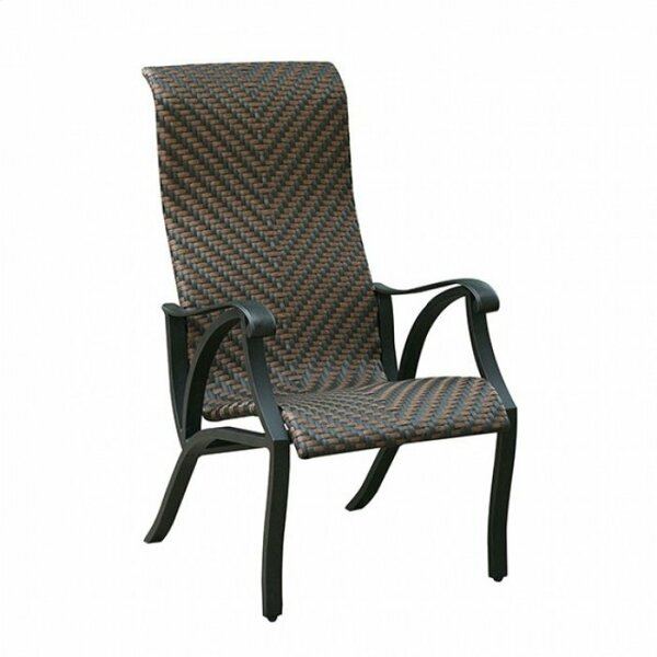 Dalkeith Contemporary Metal Patio Dining Chair (Set of 4) by Fleur De Lis Living