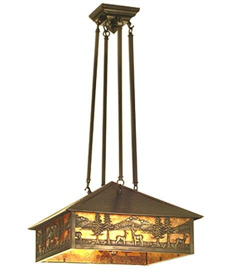 3 - Light Lantern Rectangle Chandelier by Meyda Tiffany Meyda Tiffany