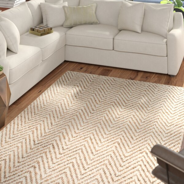Norcross Hand-Woven Tan Area Rug by Mercury Row