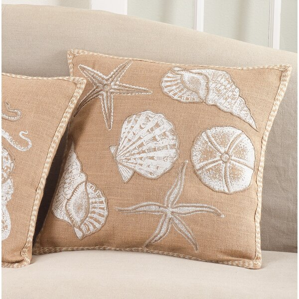 Aloisia I See Seashells Down Filled Throw Pillow by Highland Dunes